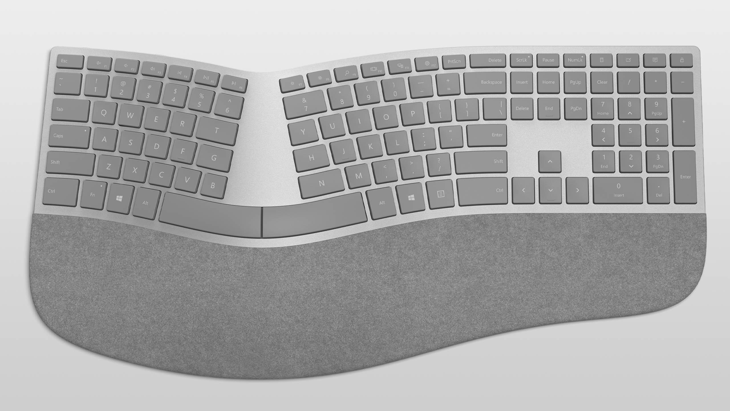 Surface Ergonomic Keyboard platingrau