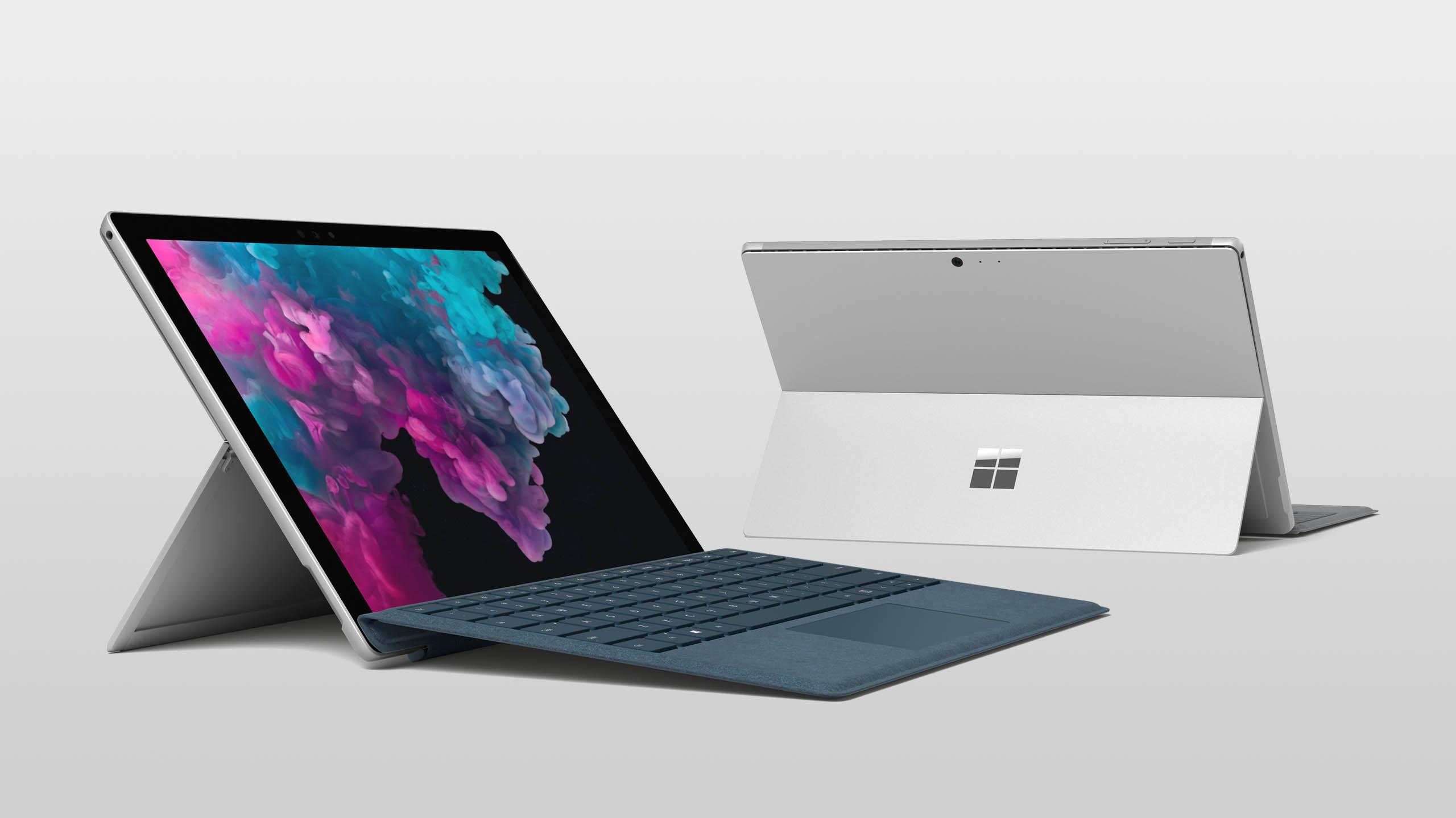 Surface Pro 6 platingrau