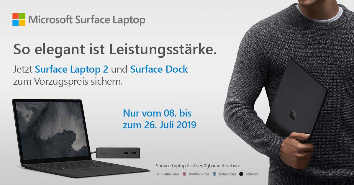 Surface Laptop 2 Und Surface Dock Promo