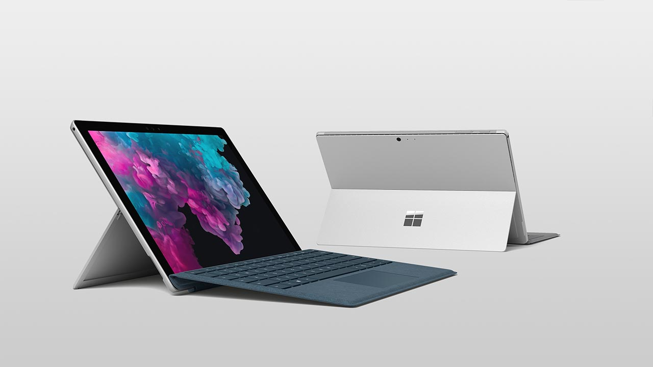 Surface Pro 6 front and back