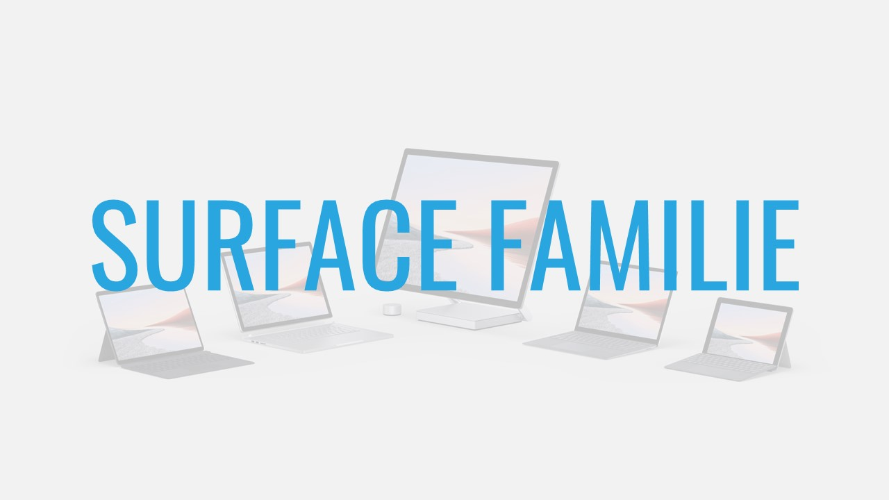 Microsoft Surface For Business Familie