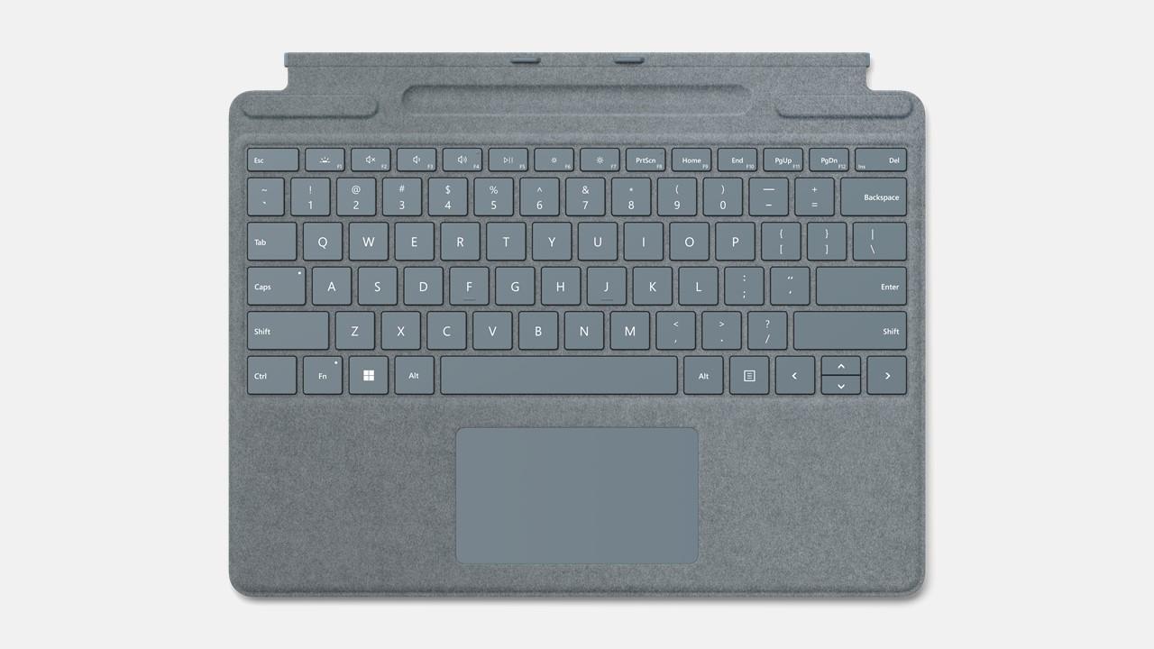 Microsoft Surface Pro Signature Keyboard ohne Pen Eisblau