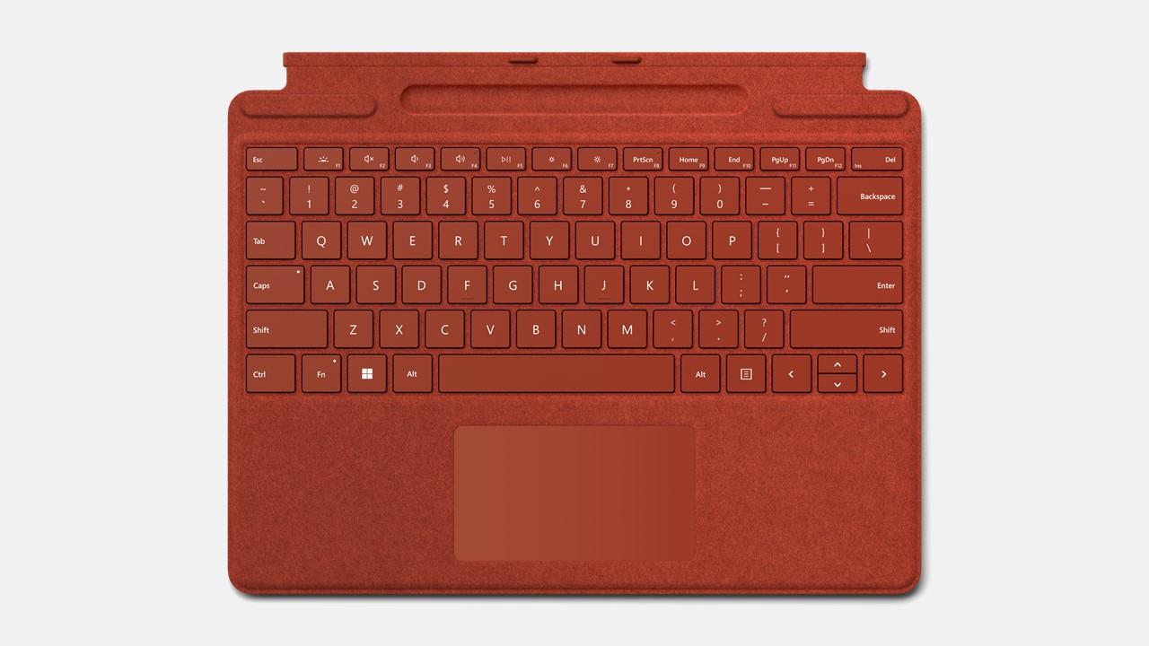 Microsoft Surface Pro Signature Keyboard ohne Pen Rot